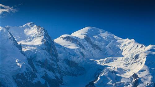 Amazing Mont Blanc Snowy Mountain in Europe