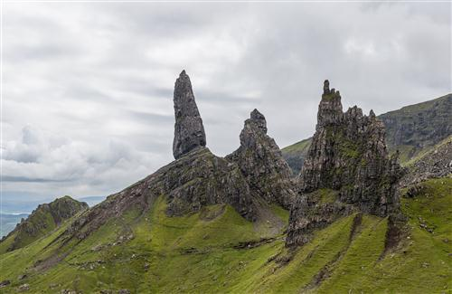 Beautiful Nature Image of Trotternish Peninsula Isle of Skye in Scotland UK Photos