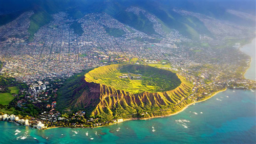 Nature View of Diamond Head in Hawaii US Wallpaper