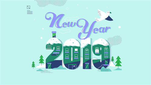 2019 New Year Winter Background HD Wallpaper