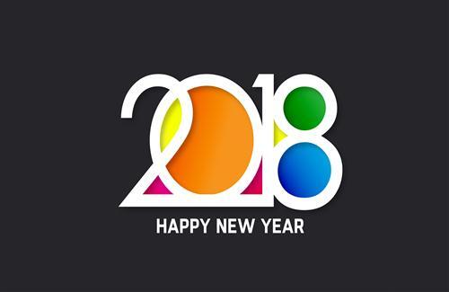 Colorful New Year 2018 HD Images