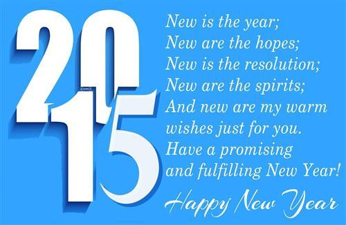 Happy New Year 2015 Quotes Greeting HD Wallpaper