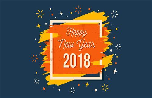 Happy New Year 2018 HD Photo Background