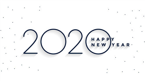 Happy New Year 2020 5K Wallpaper