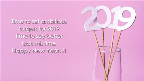 New Year 2019 Greeting Wishes Message 5K Wallpaper