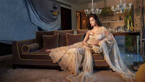 Disha Patani in Saree for Photoshoot