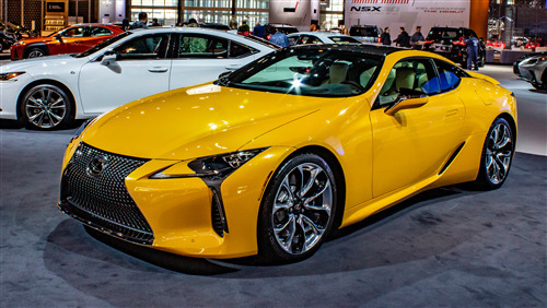 2019 Lexus LC 500 Inspira Superb Yellow Car 4K Wallpaper