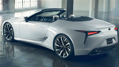 4K Wallpaper of Lexus LC Convertible Car