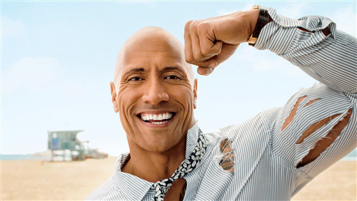 Actor Dwayne Johnson Bicep Photo