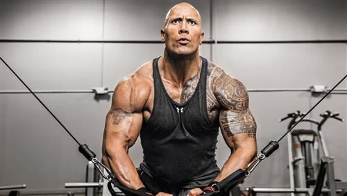 Six Pack Body Abs of Dwayne Johnson Wallpaper