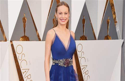 Beautiful Brie Larson American Actress in Blue Dress HD Wallpaper