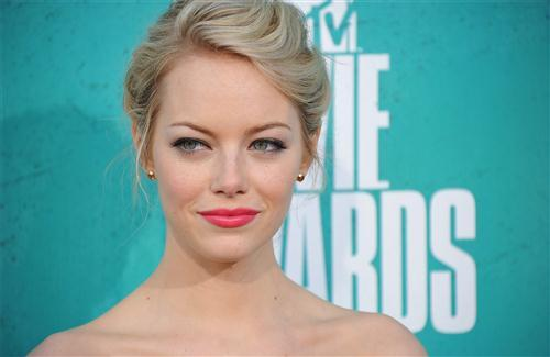 Beautiful Emma Stone in Pink Lips HD Wallpapers