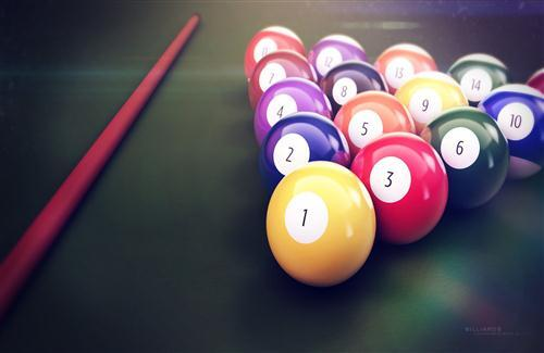 Billiards Ball Pics on Table