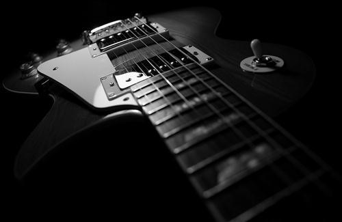 Black Guitar Musical Instrument Wallpaper