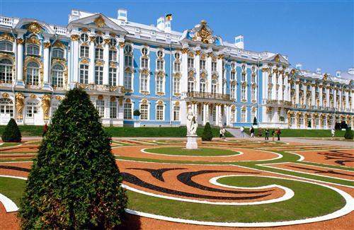 Beautiful Catherine Palace in Russia HD Wallpaper