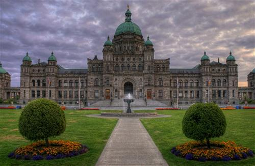 British Columbia Parliament Palace in Canada Image