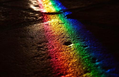 Beautiful Rainbow Shadow on River | HD Wallpapers