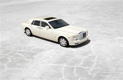 White Rolls Royce Car Photo