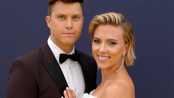 Scarlett Johansson with Spouse Colin Jost