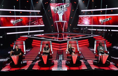 Kylie and Other Judges of Australian TV Series The Voice HD Photos