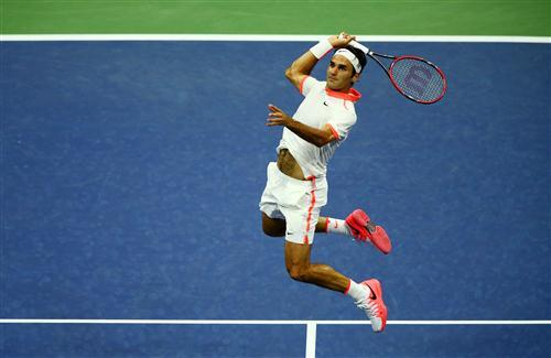 Roger Federer During Tennis Match Photo