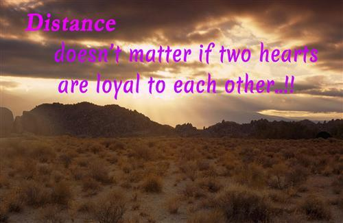 A Quote On Distance