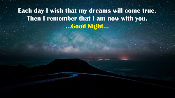 Good Night Thought on Wish and Dream 4K Wallpaper