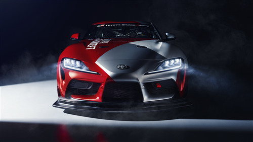 8K Wallpaper of Toyota GR Supra GT4 Car