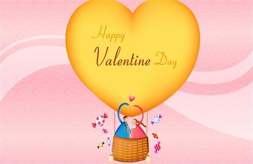 Happy Valentines Day in Parasuite HD Wallpapers