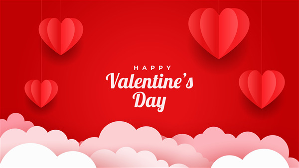 Valentines Day 4K Red Background Wallpaper