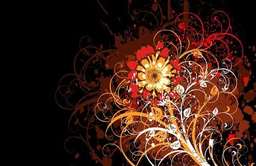 Beautiful Corner Vector and Designs Wallpapers