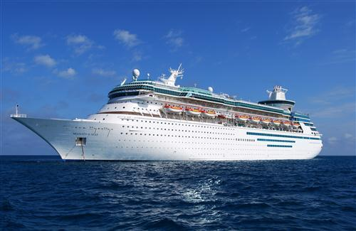 Amazing Big Luxury Ship in Blue Sea HD Wallpaper