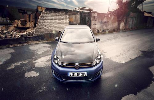 Volkswagen Car in Street Photo