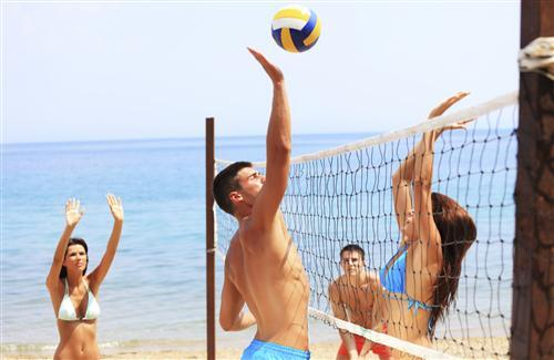 Volleyball Between Boys and Girls Wallpapers