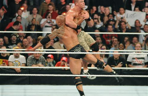 Rock and John Cena WWE Fight HD Wallpapers