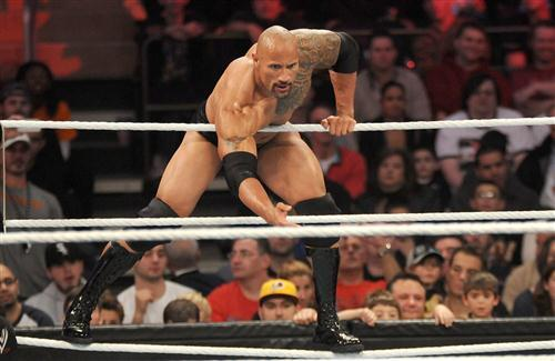 The Rock in WWE Ring Fight HD Wallpapers