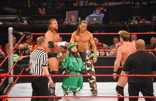 Triple H and Shawn Michaels in WWE