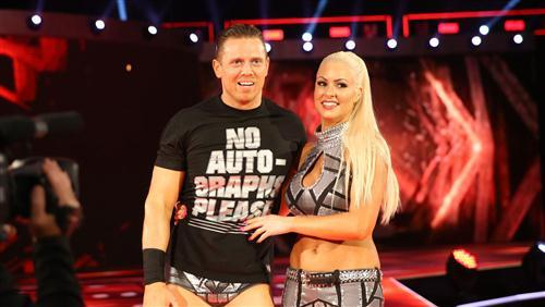 WWE Superstar The Miz with Maryse Ouellet