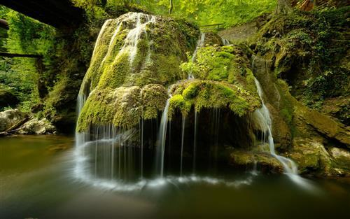Beautiful Bigar Cascade Water Falls in Romania