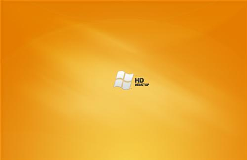 Windows HD Orange Desktop