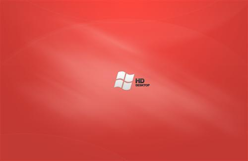 Windows HD Red Desktop Background