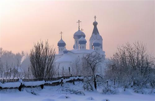 A Winter Church Wallpapers