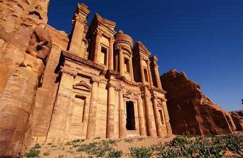 Petra Historical Place in Jordan Photo