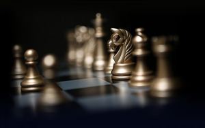 3D Chess 4K Wallpaper Backgroud