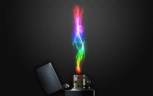 3D Colorful Fire Lighter Pic