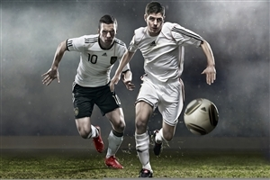3D Football Players Play Game High Quality Photos