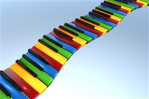3D Piano Switch Art HD Wallpapers