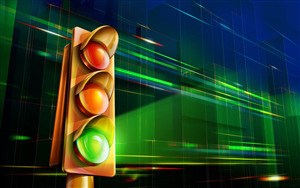 3D Traffic Signal Wallpaper