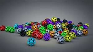 3D Triangle Color Ball 4K Resolution Wallpaper
