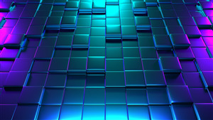 4K Wallpaper of 3D Colorful Cubes
